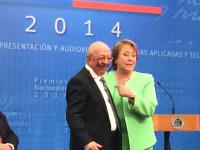 02_2014_With_chilean_President__Michelle_Bachelet_Award_ceremony.JPG
